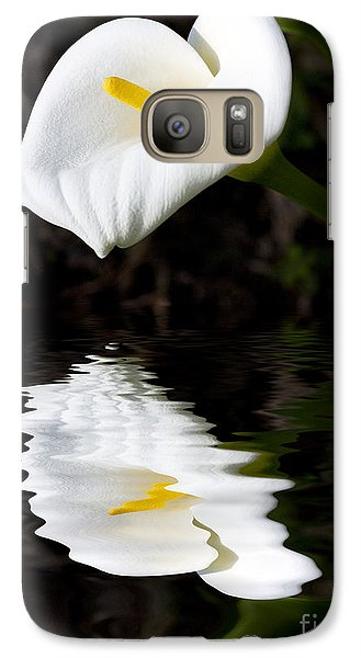 Lily Reflection Galaxy Case by Avalon Fine Art Photography