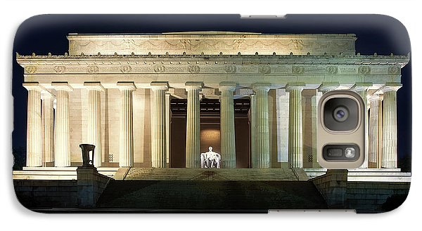 Lincoln Memorial At Twilight Galaxy Case by Andrew Soundarajan