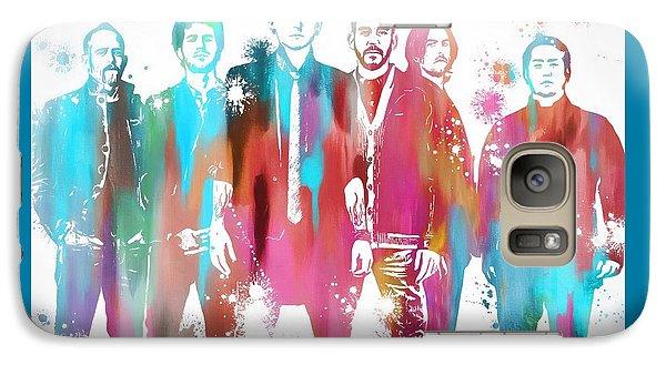 Linkin Park Watercolor Paint Splatter Galaxy S7 Case by Dan Sproul