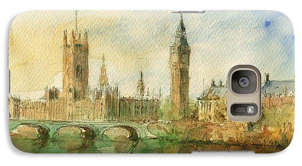 London Parliament Galaxy Case by Juan  Bosco