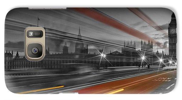 London Red Bus Galaxy Case by Melanie Viola