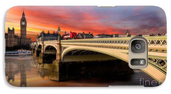 London Sunset Galaxy S7 Case by Adrian Evans