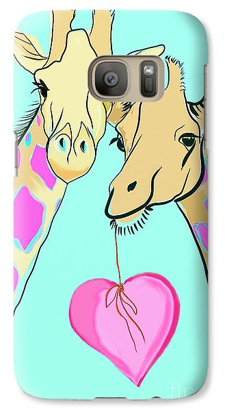 Long Neck Love Galaxy Case by Susie Cunningham