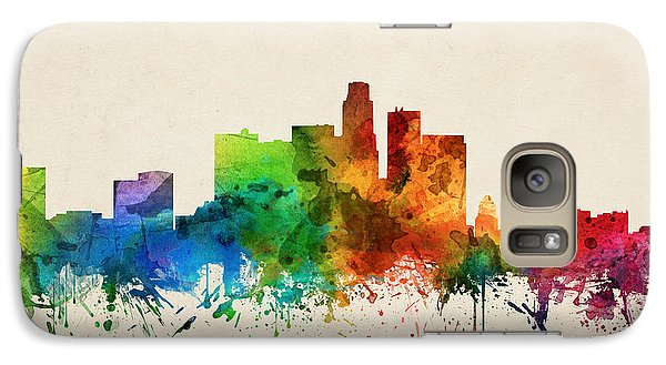 Los Angeles California Skyline 05 Galaxy Case by Aged Pixel