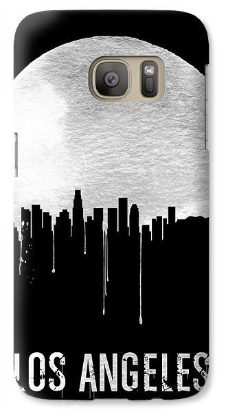 Los Angeles Skyline Black Galaxy Case by Naxart Studio