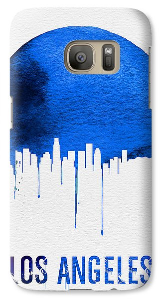 Los Angeles Skyline Blue Galaxy Case by Naxart Studio
