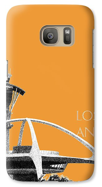Los Angeles Skyline Lax Spider - Orange Galaxy Case by DB Artist