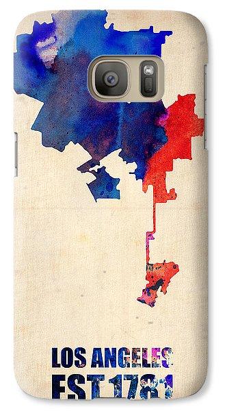 Los Angeles Watercolor Map 1 Galaxy Case by Naxart Studio