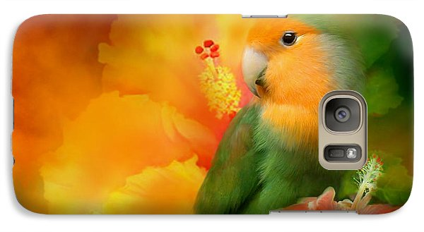 Love Among The Hibiscus Galaxy Case by Carol Cavalaris