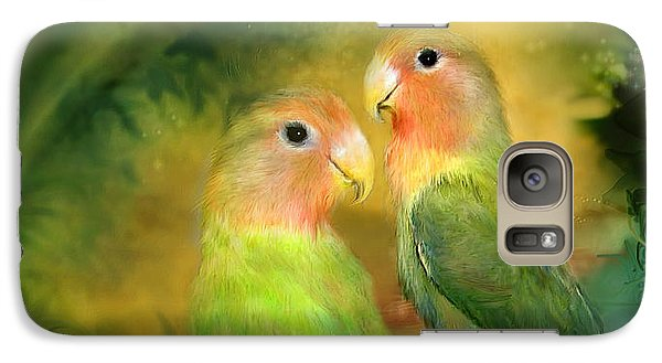 Love In The Golden Mist Galaxy S7 Case by Carol Cavalaris