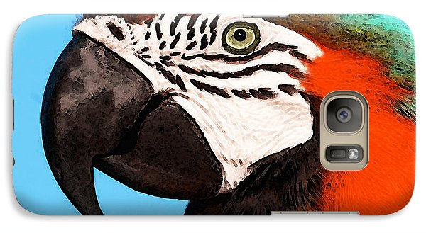 Macaw Bird - Rain Forest Royalty Galaxy Case by Sharon Cummings