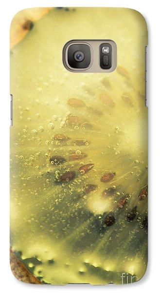 Macro Shot Of Submerged Kiwi Fruit Galaxy Case by Jorgo Photography - Wall Art Gallery