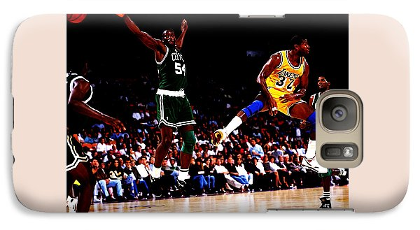 Magic Johnson No Look Pass 7a Galaxy Case by Brian Reaves