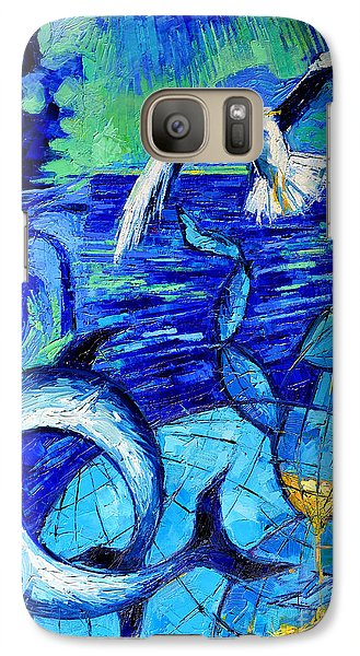 Majestic Bleu Galaxy S7 Case by Mona Edulesco