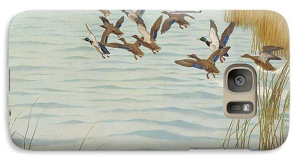 Mallards In Autumn Galaxy S7 Case by Newell Convers Wyeth