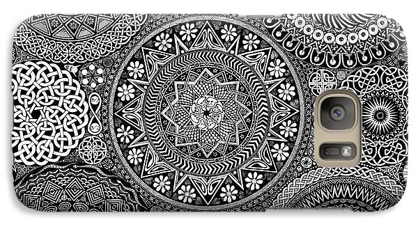 Mandala Bouquet Galaxy Case by Matthew Ridgway