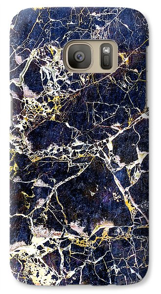 Marble Stone Texture Wall Tile Galaxy S7 Case by John Williams