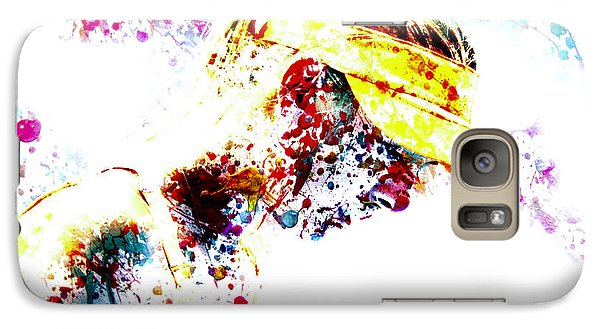 Maria Sharapova Paint Splatter 4p                 Galaxy Case by Brian Reaves