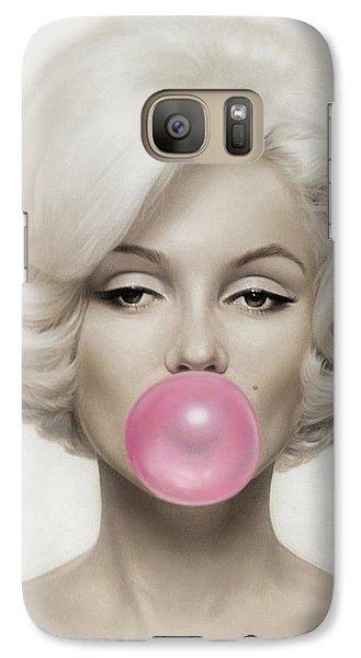 Marilyn Monroe Galaxy Case by Vitor Costa