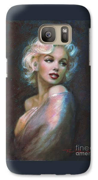 Marilyn Romantic Ww Dark Blue Galaxy S7 Case by Theo Danella