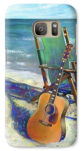 Martin Goes To The Beach Galaxy S7 Case by Andrew King