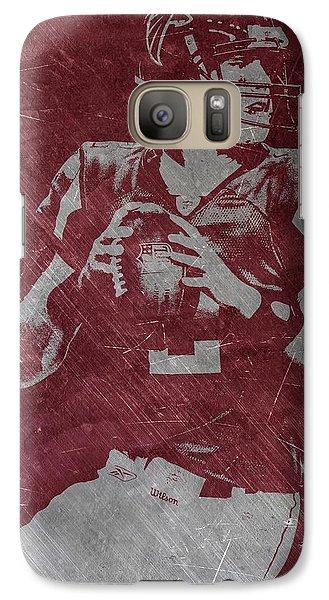 Matt Ryan Atlanta Falcons Galaxy S7 Case by Joe Hamilton
