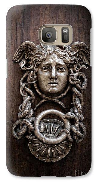 Medusa Head Door Knocker Galaxy S7 Case by Edward Fielding