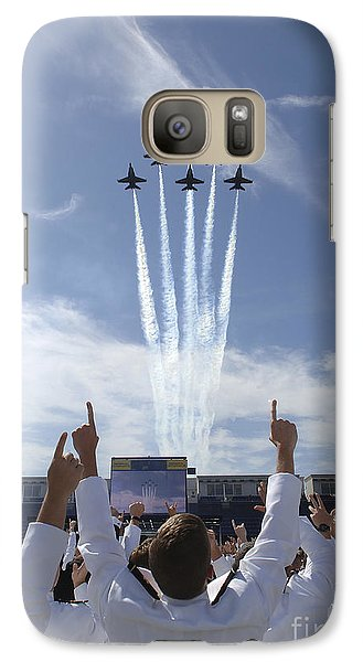 Members Of The U.s. Naval Academy Cheer Galaxy S7 Case by Stocktrek Images