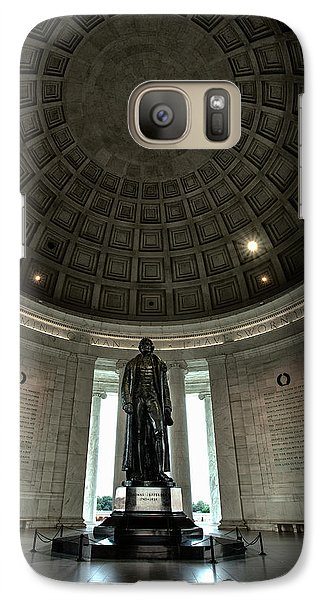 Memorial To Thomas Jefferson Galaxy Case by Andrew Soundarajan