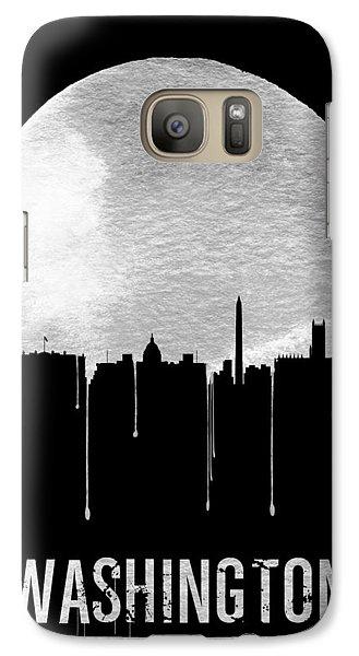 Memphis Skyline Black Galaxy Case by Naxart Studio