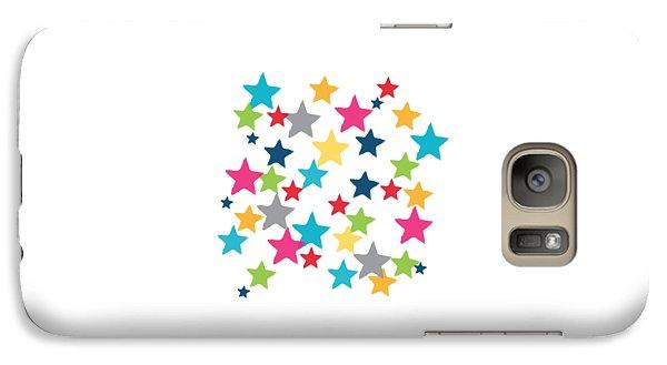 Messy Stars- Shirt Galaxy S7 Case by Linda Woods