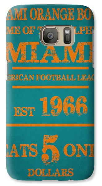 Miami Dolphins Sign Galaxy S7 Case by Joe Hamilton