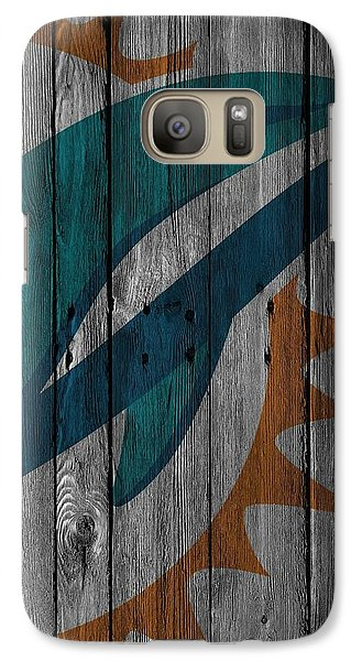 Miami Dolphins Wood Fence Galaxy S7 Case by Joe Hamilton
