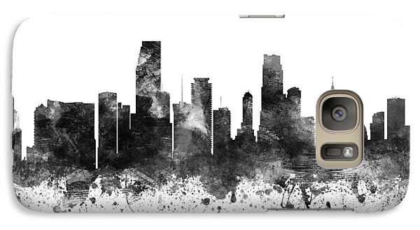 Miami Florida Cityscape 02bw Galaxy Case by Aged Pixel
