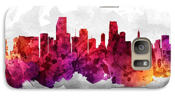 Miami Florida Cityscape 14 Galaxy Case by Aged Pixel