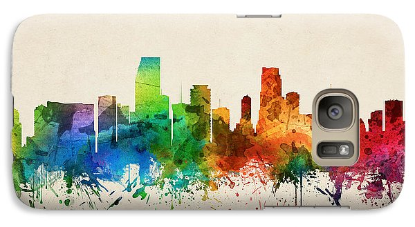 Miami Florida Skyline 05 Galaxy Case by Aged Pixel
