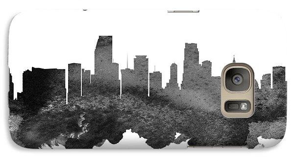 Miami Florida Skyline 18 Galaxy Case by Aged Pixel