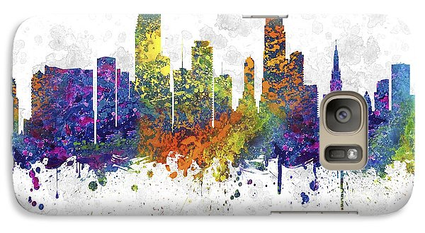 Miami Florida Skyline Color 03sq Galaxy Case by Aged Pixel