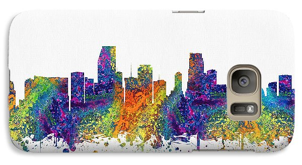 Miami Florida Skyline Color03 Galaxy Case by Aged Pixel