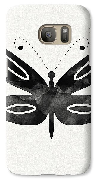 Midnight Butterfly 1- Art By Linda Woods Galaxy S7 Case by Linda Woods