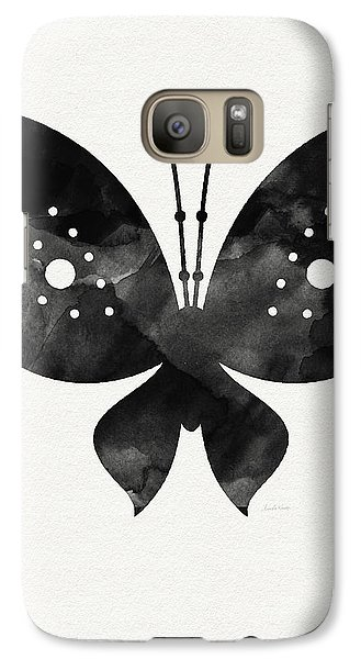 Midnight Butterfly 2- Art By Linda Woods Galaxy S7 Case by Linda Woods