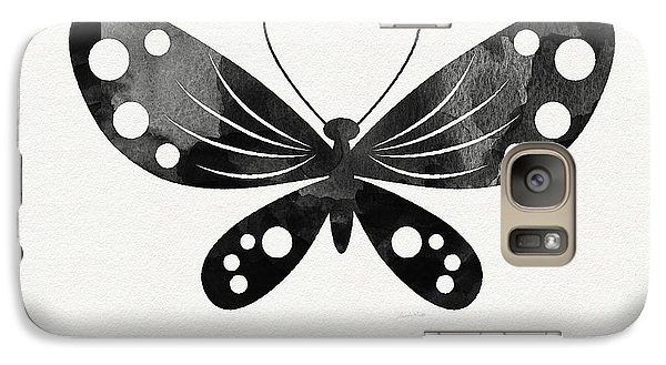 Midnight Butterfly 3- Art By Linda Woods Galaxy S7 Case by Linda Woods