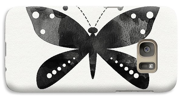 Midnight Butterfly 4- Art By Linda Woods Galaxy S7 Case by Linda Woods