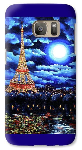 Midnight In Paris Galaxy Case by Laura Iverson
