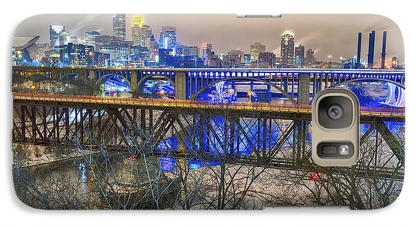 Minneapolis Bridges Galaxy Case by Craig Voth