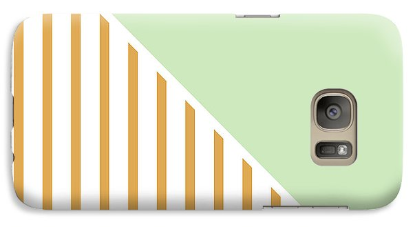 Mint And Gold Geometric Galaxy Case by Linda Woods