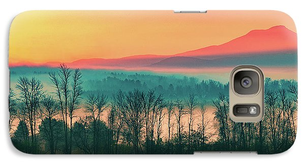 Misty Mountain Sunrise Part 2 Galaxy S7 Case by Alan Brown