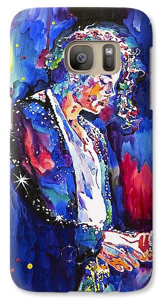 Mj Final Performance II Galaxy Case by David Lloyd Glover