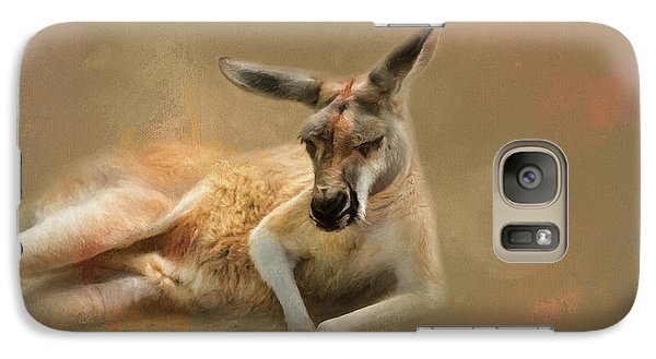 Monday Morning Drowsies Kangaroo Art Galaxy Case by Jai Johnson