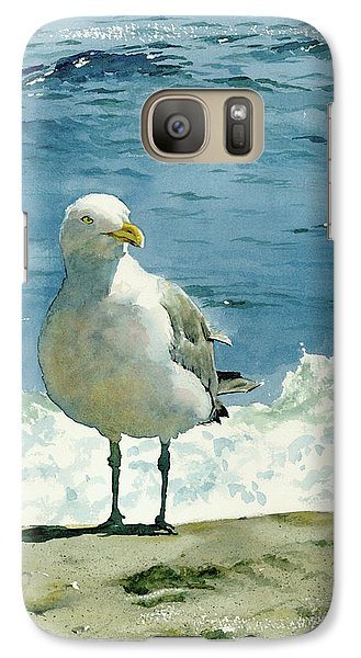 Montauk Gull Galaxy Case by Tom Hedderich